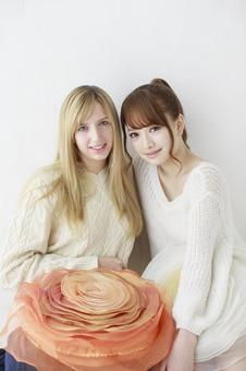Female friend Foreigner and Japanese 15