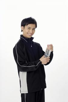 Male with PET bottle 3