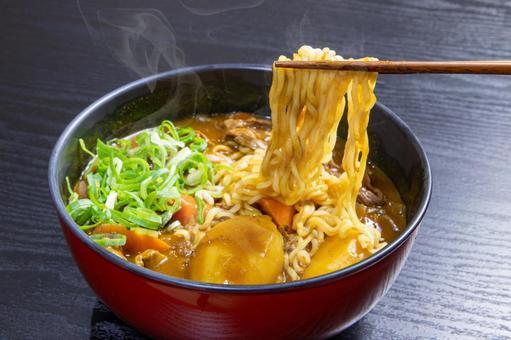 Eat curry ramen