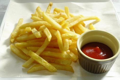 Fried potato shoestring