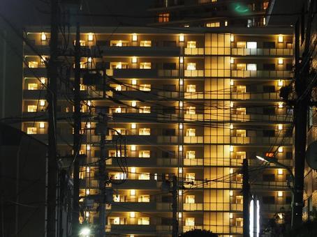 아파트 야경