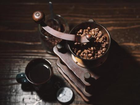 Coffee and coffee mill