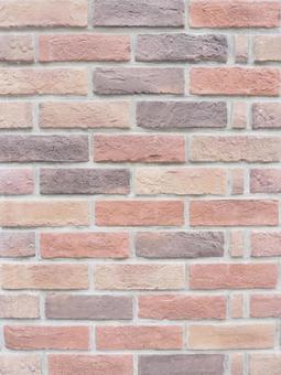 따스함 조 벽돌 벽 (세로 버전)