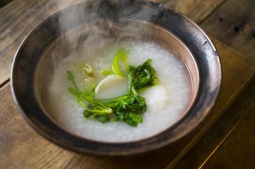 Spring nooki rice porridge