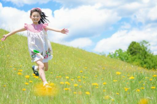 Girl running well