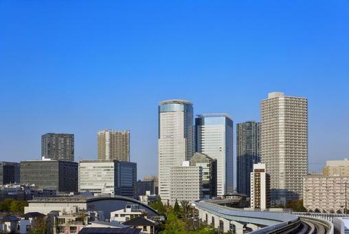 Building town around Toyosu Station in Tokyo