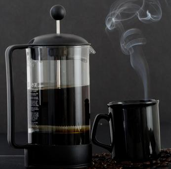 French press and cup 3
