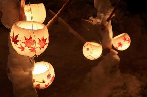 Otaru snow light path (wax bowl) 2