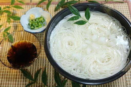 Japanese summer Somen noodles Somen