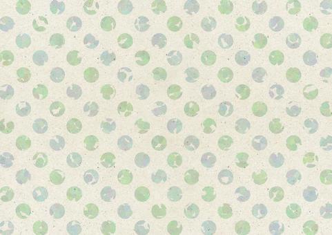 Japanese paper dot 5. green