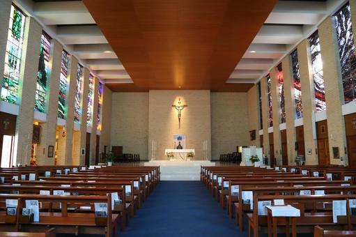 스테인드 글라스가 아름다운 외국 교회