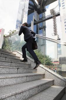 Running businessman 3