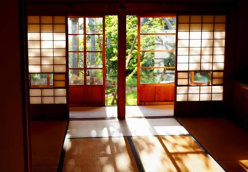 Scenery with Japanese-style room