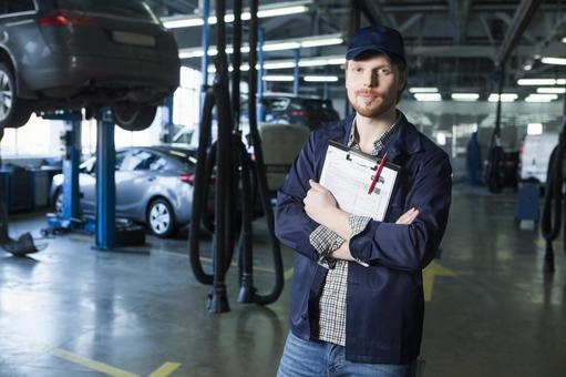 Automobile mechanic with clip board 6