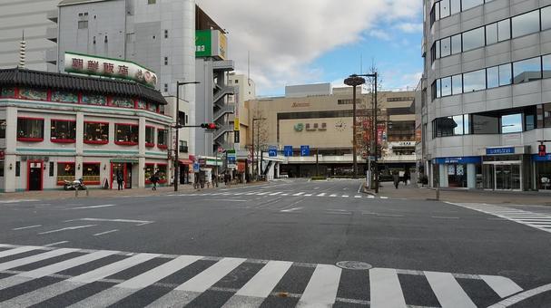 高崎站前廣場主要街道和車站大樓