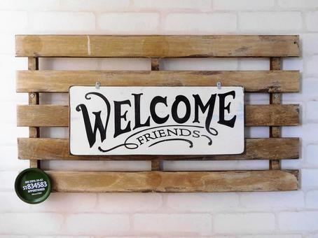 Fashionable WELCOME plate