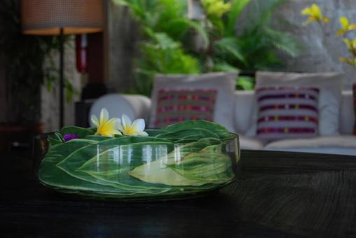 Asian flower objects