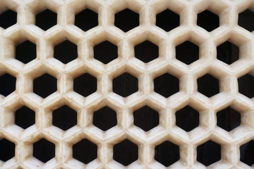 Decoration_lattice_stone_white_india
