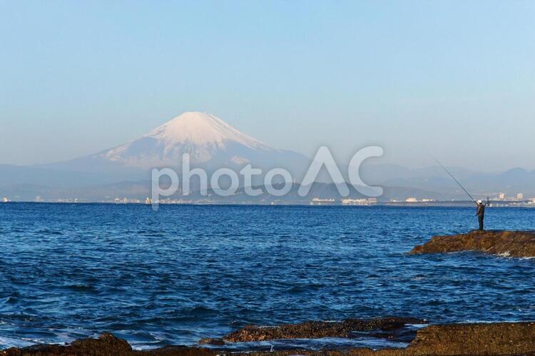 江ノ島から望む富士の写真