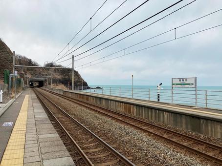 오미가와 역의 홈