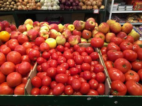 시장 야채 토마토