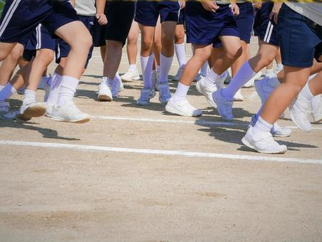 School marathon event