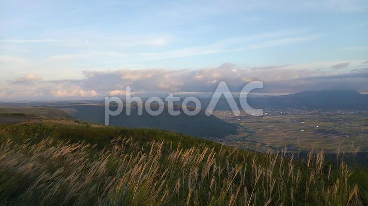 大観峰展望所からの景色 熊本阿蘇の写真