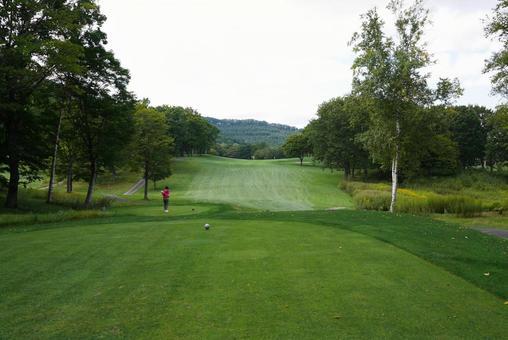 Golf course teeing area Hokkaido