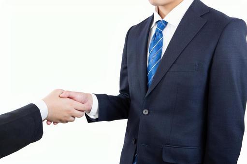 Businessman shaking hands 01