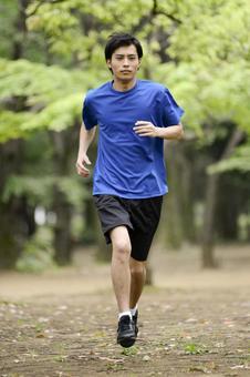 Men running in the park 16