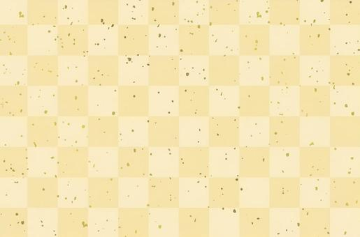 A checkered pattern cream and gold powder