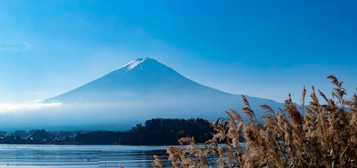 Mt. Fuji seen from Lake Kawaguchi