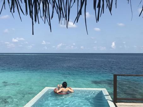 Private pool of water villa
