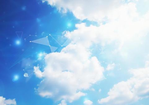 Sky and clouds 2 glitter