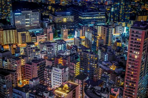 Tokyo night view seen from Tokyo Tower