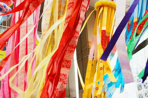 Sendai Tanabata swaying in the wind