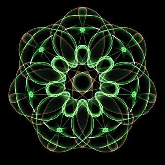 Circle Shape Art 088 Green