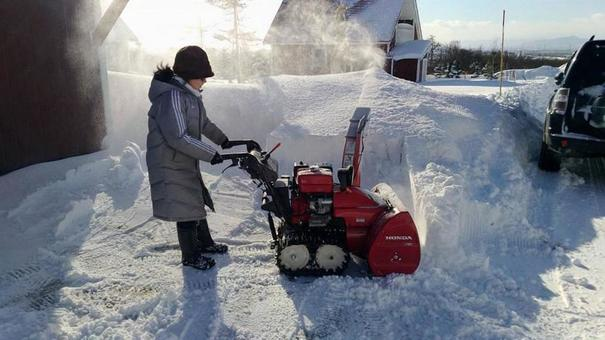 During snow removal