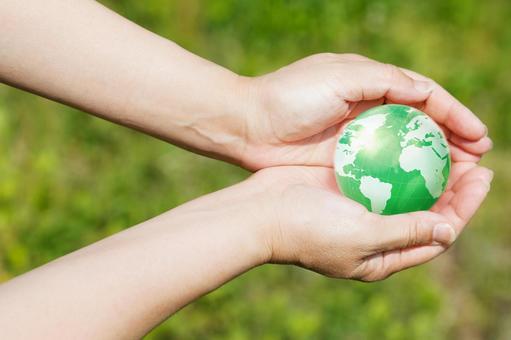 手与地球10