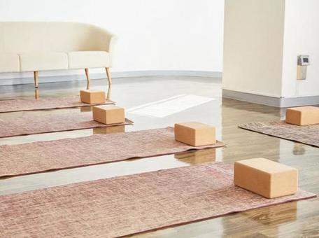 Indoor with yoga mat
