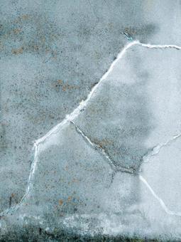 노화의 균열 (크랙)을 보수 한 외벽
