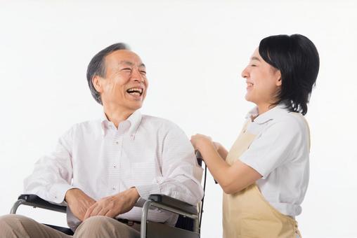 Men and nurses on a wheelchair 24