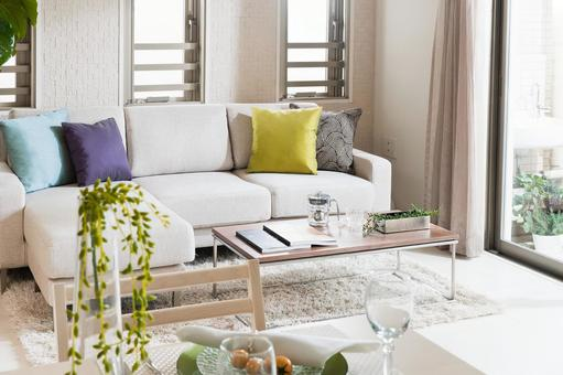 Living dining with couch sofa