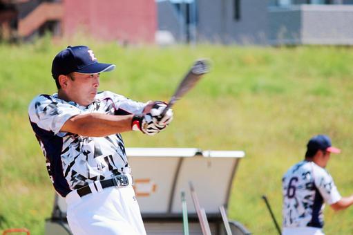 Person male baseball batter