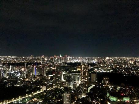 도쿄의 야경 신주쿠 방면