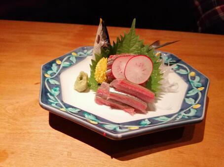 Saury sashimi