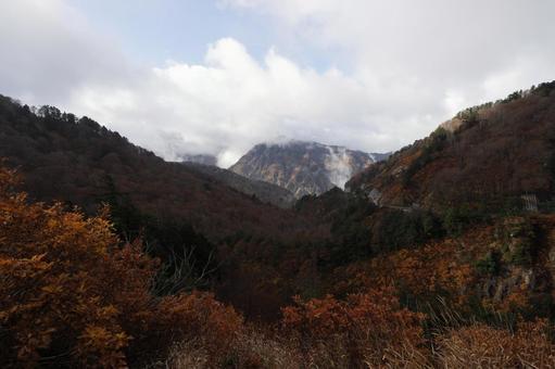 백산의 계곡