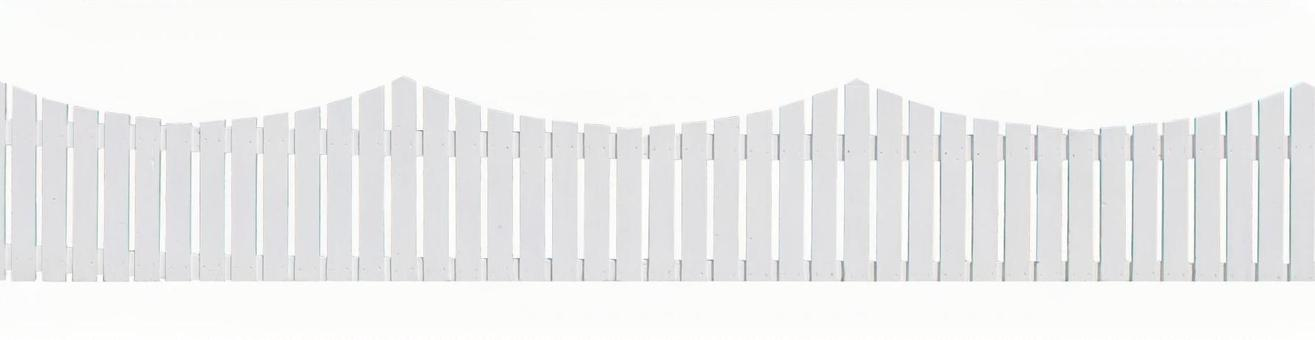 White wooden fence (psd background transparent)
