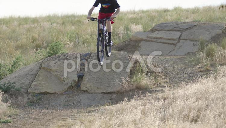 大自然とロードバイク4の写真