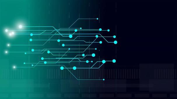 Futuristic cyber world digital domain